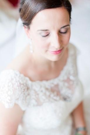 Braut geschlossenes Auge